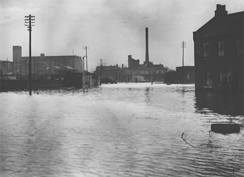 Floods 1 1953 Floods. Forty Acre Lane, Canning Town